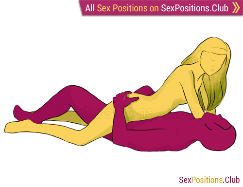 Sex position #1 - Shuttle. (cowgirl, criss cross, face to face, woman on top). Kamasutra - Photo, picture, image