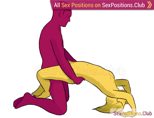 Sex position #18 - Waterfall. (kneeling, right angle). Kamasutra - Photo, picture, image