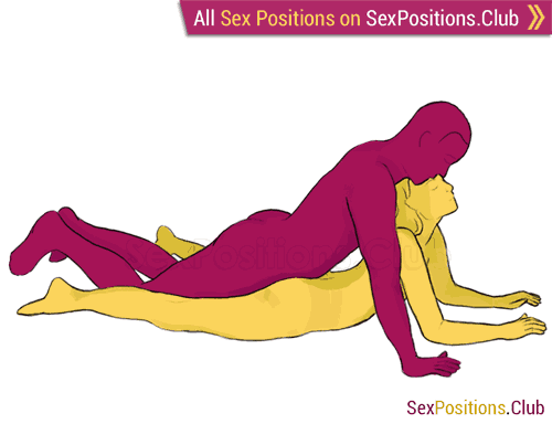 Sex position #8 - Boat. (from behind, lying down, man on top, rear entry). Kamasutra - Photo, picture, image