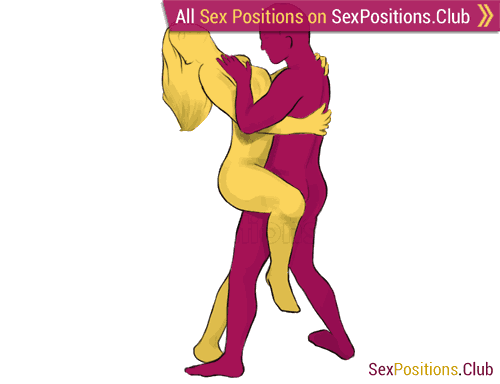 Sex position #22 - Indian Style. (face to face, standing). Kamasutra - Photo, picture, image