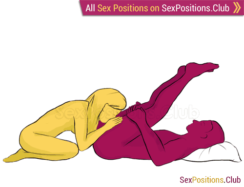 Sex position #75 - Symphony . (blowjob, lying down, oral sex). Kamasutra - Photo, picture, image