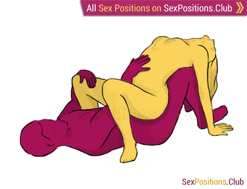 Sex position #53 - Precipice. (cowgirl, reverse, woman on top). Kamasutra - Photo, picture, image