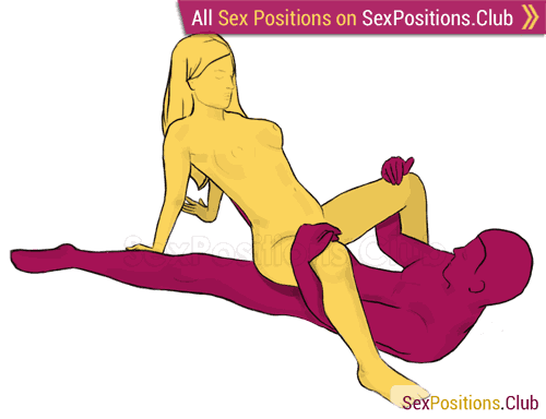 Sex position #77 - Crab. (cowgirl, reverse, woman on top). Kamasutra - Photo, picture, image