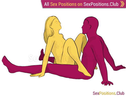 Sex position #89 - Dejavu. (face to face, sitting). Kamasutra - Photo, picture, image