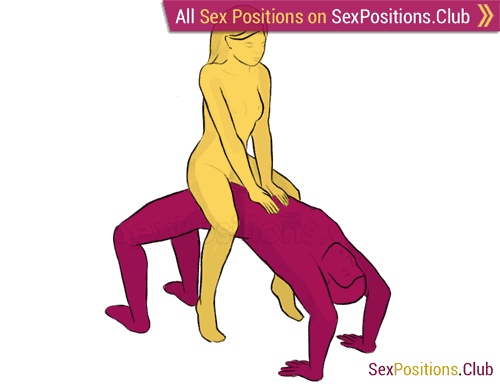 Sex position #173 - Arch. (cowgirl, woman on top). Kamasutra - Photo, picture, image