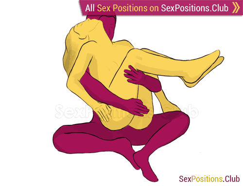 Sex position #78 - Cradle. (from behind, rear entry, sitting, woman on top). Kamasutra - Photo, picture, image