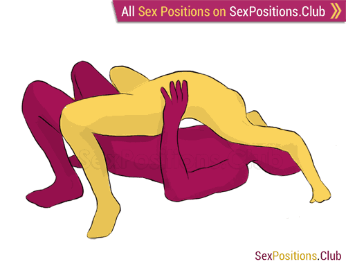 Sex position #138 - Asian Cowgirl. (from behind, rear entry, woman on top). Kamasutra - Photo, picture, image