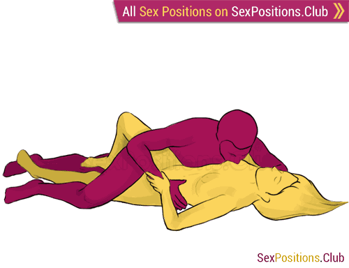 Sex position #103 - Flash. (lying down, sideways). Kamasutra - Photo, picture, image