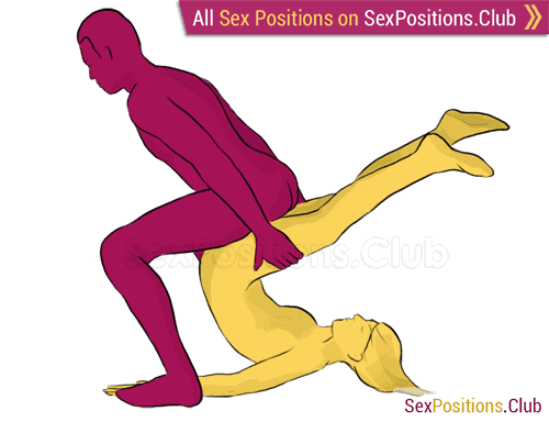 Sex position #186 - Brute. (from behind, man on top, rear entry, reverse, standing). Kamasutra - Photo, picture, image
