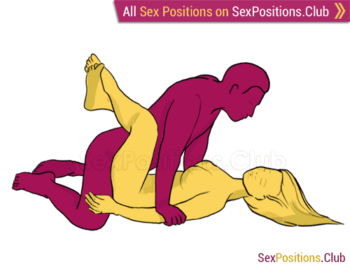 Sex position #42 - Fall. (face to face, lying down, man on top). Kamasutra - Photo, picture, image