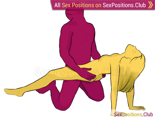 Sex position #31 - Clip. (kneeling, right angle). Kamasutra - Photo, picture, image