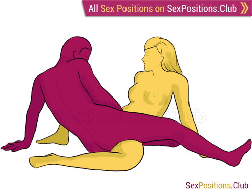 Sex position #141 - She-wolf. (face to face, reverse, sitting). Kamasutra - Photo, picture, image