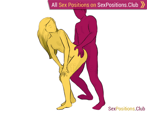 Sex position #82 - Venus. (doggy style, from behind, rear entry, standing). Kamasutra - Photo, picture, image
