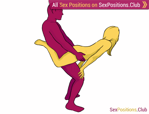 Sex position #118 - Superman. (from behind, rear entry, standing, woman on top). Kamasutra - Photo, picture, image