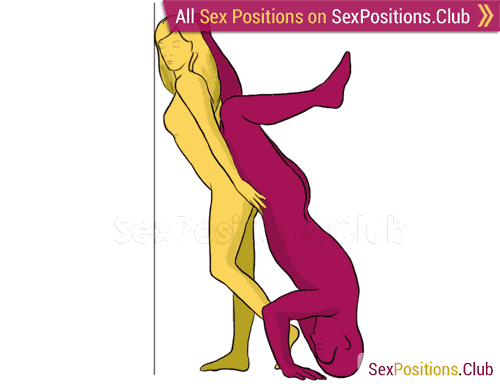 Sex position #166 - Hill. (from behind, rear entry, reverse, standing). Kamasutra - Photo, picture, image