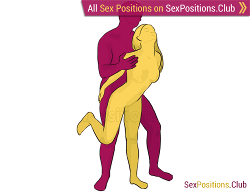 Sex position #33 - Hook. (from behind, rear entry, standing). Kamasutra - Photo, picture, image