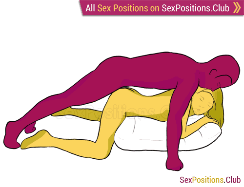 Sex position #107 - Scorpio. (doggy style, from behind, man on top, rear entry). Kamasutra - Photo, picture, image