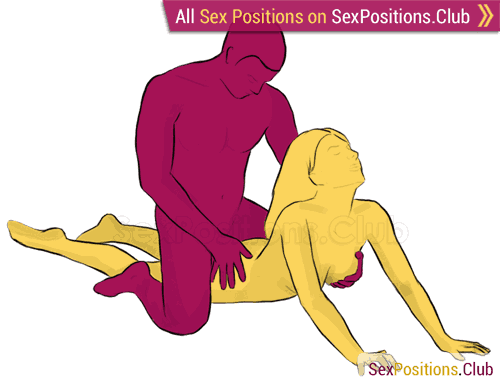 Sex position #143 - Pulse. (from behind, man on top, rear entry). Kamasutra - Photo, picture, image