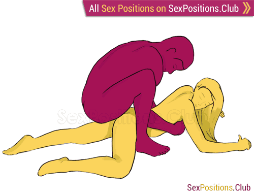 Sex position #179 - Leo. (from behind, man on top, rear entry). Kamasutra - Photo, picture, image