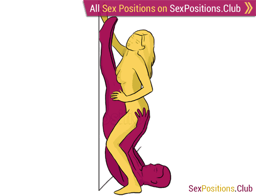 Sex position #132 - Female peasant. (reverse, standing, woman on top). Kamasutra - Photo, picture, image