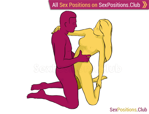 Sex position #156 - Twins. (face to face, kneeling, standing). Kamasutra - Photo, picture, image