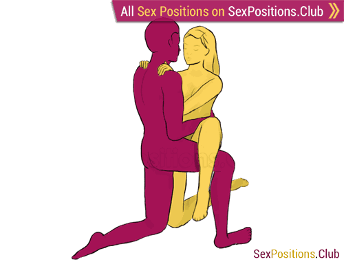 Sex position #180 - Reflection. (face to face, kneeling, standing). Kamasutra - Photo, picture, image