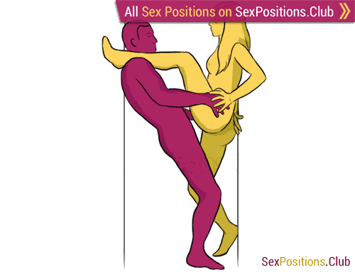 Sex position #60 - Victory. (face to face, standing). Kamasutra - Photo, picture, image