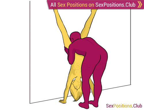 Sex position #222 - Orchid. (cunnilingus, oral sex, standing). Kamasutra - Photo, picture, image
