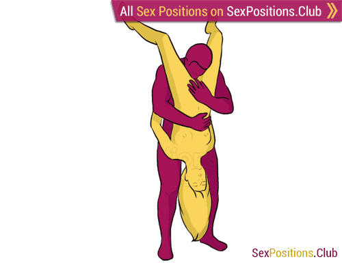 Sex position #231 - Lace. (cunnilingus, oral sex, standing). Kamasutra - Photo, picture, image