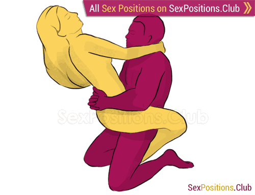 Sex position #225 - Elephantl. (face to face, kneeling, standing, woman on top). Kamasutra - Photo, picture, image