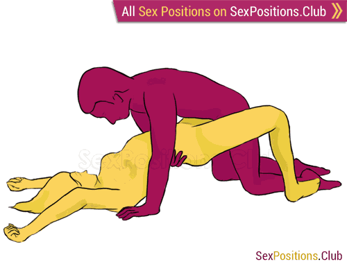 Sex position #226 - London Bridge. (face to face, kneeling, man on top). Kamasutra - Photo, picture, image