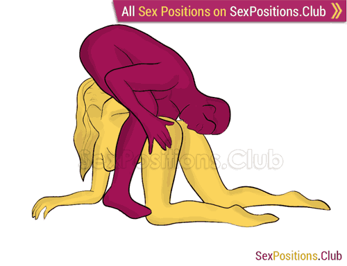 Sex position #281 - Exotic foreplay. (69 sex position, oral sex, kneeling, standing). Kamasutra - Photo, picture, image
