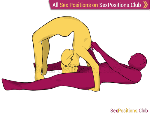 Sex position #473 - Loop. (oral sex, blowjob, lying down). Kamasutra - Photo, picture, image