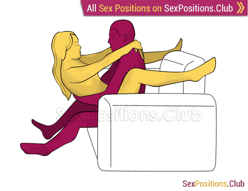 Sex position #379 - Master (on the armchair). (on the armchair). (armchair, breasts touching, clitoral stimulation, deep penetration, face to face, kissing, man active, medium level, P-spot stimulation, sitting, woman active, woman on top)