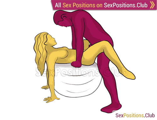 Sex position #360 - Hard worker (on the ball). (man on top, standing). Kamasutra - Photo, picture, image