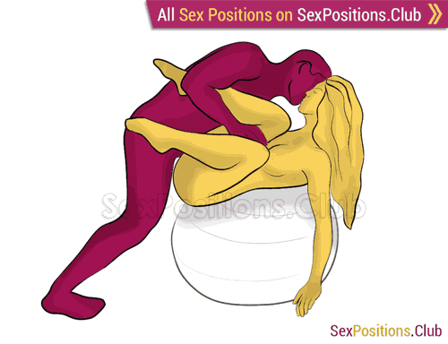 Sex position #449 - Julia (on the ball). (face to face, standing). Kamasutra - Photo, picture, image