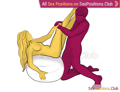 Sex position #430 - Сatch (on the ball). (right angle, kneeling). Kamasutra - Photo, picture, image