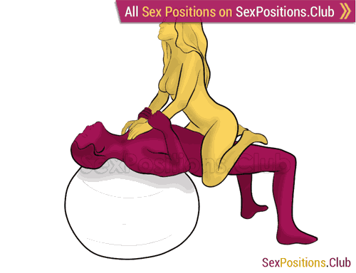 Sex position #455 - Saddle (on the ball). (cowgirl, woman on top). Kamasutra - Photo, picture, image