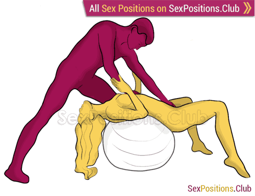 Sex position #290 - Throat swab (on the ball). (oral sex, blowjob, standing). Kamasutra - Photo, picture, image