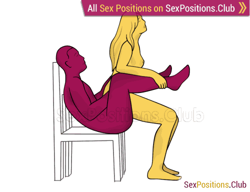 Sex position #333 - Marvelous stool. (woman on top, from behind, sitting, standing). Kamasutra - Photo, picture, image