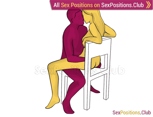 Sex position #404 - Close breathing (on the chair). (woman on top, face to face, sitting). Kamasutra - Photo, picture, image