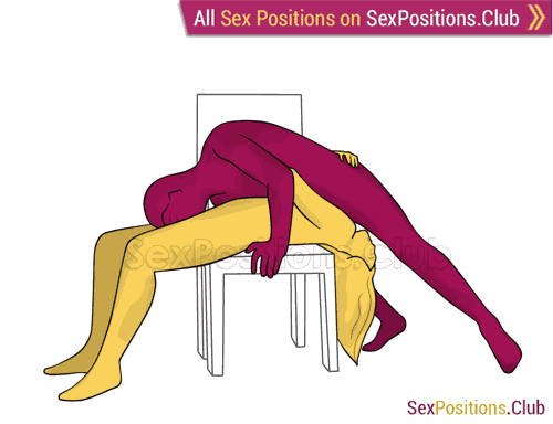 Sex position #481 - New 69 on the chair. (69 sex position, oral sex). Kamasutra - Photo, picture, image