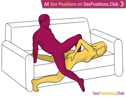 Position 269 (on the sofa). Rock and roll Sex position #269 - Rock and roll. (from behind, rear entry). Kamasutra - Photo, picture, image