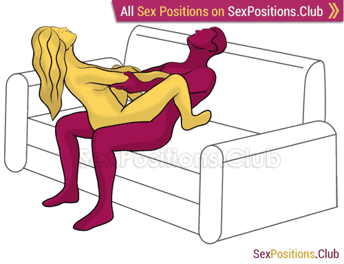 Sex position #335 - Tug of war. (cowgirl, woman on top, sitting). Kamasutra - Photo, picture, image