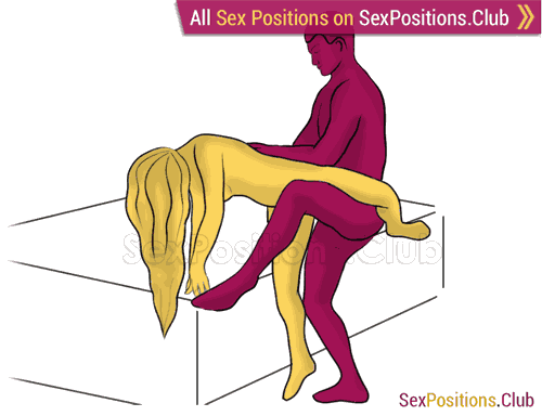 Sex position #403 - Rare trick (on the bed). (from behind, rear entry, standing). Kamasutra - Photo, picture, image