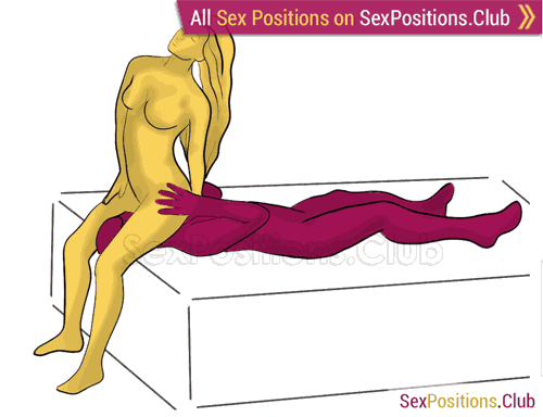 Sex position #417 - Valedictorian (on the bed). (oral sex, cunnilingus, woman on top). Kamasutra - Photo, picture, image