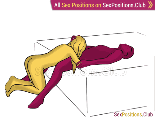 Sex position #486 - Source (on the bed). (oral sex, blowjob, kneeling). Kamasutra - Photo, picture, image