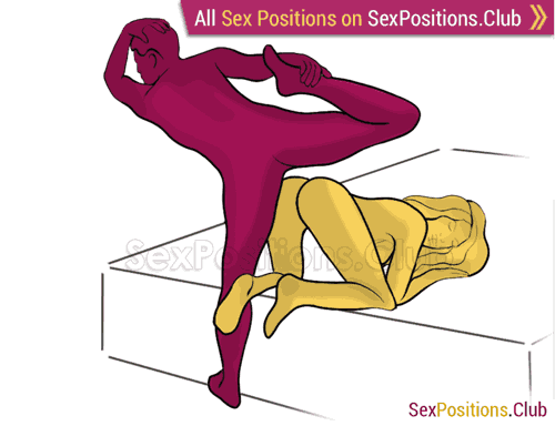 Sex position #253 - Unique styles (on the bed). (doggy style, from behind, rear entry,standing). Kamasutra - Photo, picture, image
