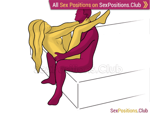 Sex position #375 - Amazing meeting (on the bed). (face to face, sitting). Kamasutra - Photo, picture, image