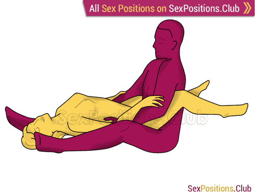 Sex position #349 - Moonlight. (anal sex, reverse, right angle, sitting). Kamasutra - Photo, picture, image